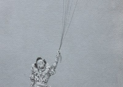 Debbie Hill - The Denier-What we carry with us Series - Graphite and Carbon on Handmade paper