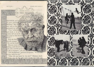 Debbie Hill - Denial - Biro on Vintage book