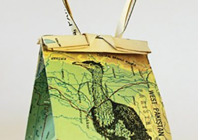 Debbie Hill - WWCWU#1 Bustard -Ink on Origami folded paper