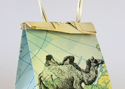 Debbie Hill - WWCWU#1 Camel -Ink on Origami folded paper