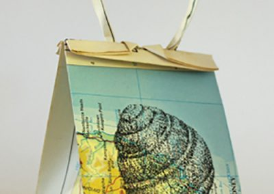 Debbie Hill - WWCWU#1 Snail - Ink on Origami folded paper