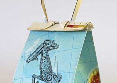 Debbie Hill - WWCWU#1- Ink on Origami folded paper