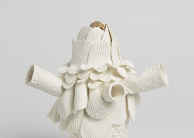 Debbie Hill - The Consequence - Hand built Porcelain and matte gold lustre