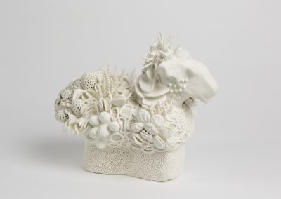 Debbie Hill - Reverse Trojan - Hand built Porcelain