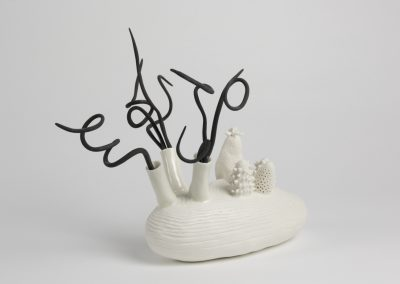 Debbie Hill - What Lies Beneath - Hand built etched Porcelain and Scarva